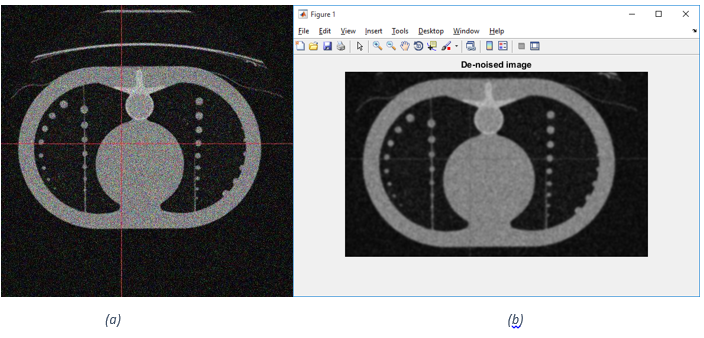 Matlab - (a) Image 4.jpg before median and Gaussian filter (b) after median and Gaussian filter