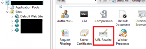The location of URL Rewrite within IIS